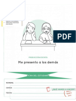 Escritura Ficha de Presentación Estudiante Modificable