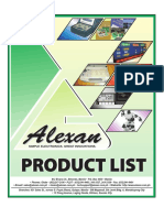 Alexan Product List Part 1