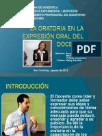 Oratoria en La Expresion Oral