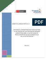 RM 631-2014-DA- Criterios y Parámetros Estudios Preinversión