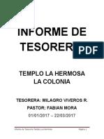 Informe de Tesoreria- 2017