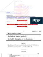 As 1012.1-1993 Methods of Testing Concrete - Sampling of Fre