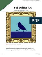 The Art of Twitter Art - The Atlantic