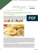 Dieta Da Banana- Conheça Os Sete Pilares Desse Método Para Emagrecer - Minha Vida