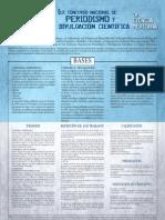 Convocatoria - Periodismo Científico