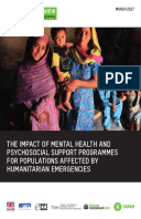 The Impact of Mental Health and Psychosocial Support Interventions on People Affected by Humanitarian Emergencies: A systematic review