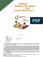 Modelo de Programación anual de Educación Física 2017