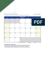 Blank February 2017 Calendar