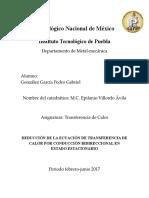 Deducción de La Ecuación de Transferencia de Calor Por Conducción Bidireccional en Estado Estacionario