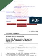 As 1012.3.3-1998 Methods of Testing Concrete - - Ve