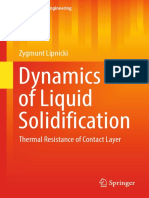( ) Dynamics of Liquid Solidification_Thermal Resistance of Contact Layer