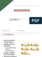 Lecture 10 Acoustics 2015