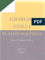 Colli, Giorgio - Platon Politico.pdf