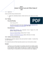 Unit 3 Relationship Between Contract Law and Other Areas of Law