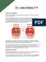 Apa Itu Amandel