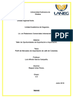 Perfil de Importación Café de Colombia