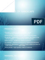 Causes of Handicaps