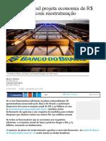 Banco do Brasil projeta economia de R$ 3,8 bi ao ano com reestruturação - 21_11_2016 - Mercado - Folha de S