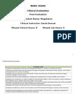 mziemnicki nurs 3020 clinical final evaluation