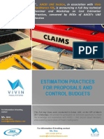 Estimation Practice for Proposals and Control Budgets