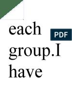 Each Group