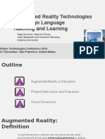 Augmented Reality Technologies for Foreign Language Teaching and Learning - Presentation