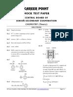 Sol. Mock Test CBSE Chemistry