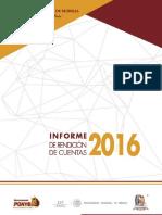 Informe de Rendicion de Cuentas 2016