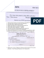 Questions Bank HRD- Human Resource Development