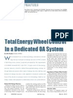 Total-Energy Wheel Control in Dedicated OA Systems