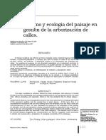 Paisajismo y Ecología Del Paisaje en La Gestión de La Arborización de Las Calles, Medellín - Luis Vélez