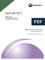 Utstarcom en GEPON BBS1000plus CLI Operation R2.32.1.28