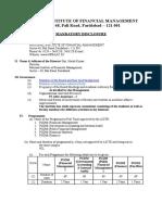NIFM Mandatory Disclosure AICTE