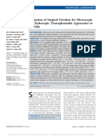 Evaluation of Surgical Freedom for Microscopic and.11