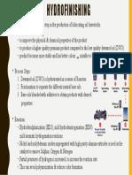 Hydrofinishing Slides for Refining Presentation