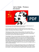 How Lenin Led to Stalin