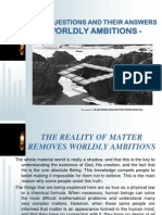 Basic Questions and Their Answers - Worldly Ambitions