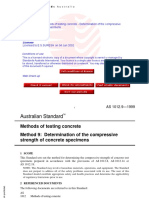 As 1012.9-1999 Methods of Testing Concrete - The Compressive