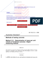 As 1012.12.1-1998 Methods of Testing Concrete - Hardened Con