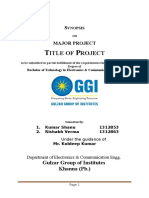 Project report Synopsis