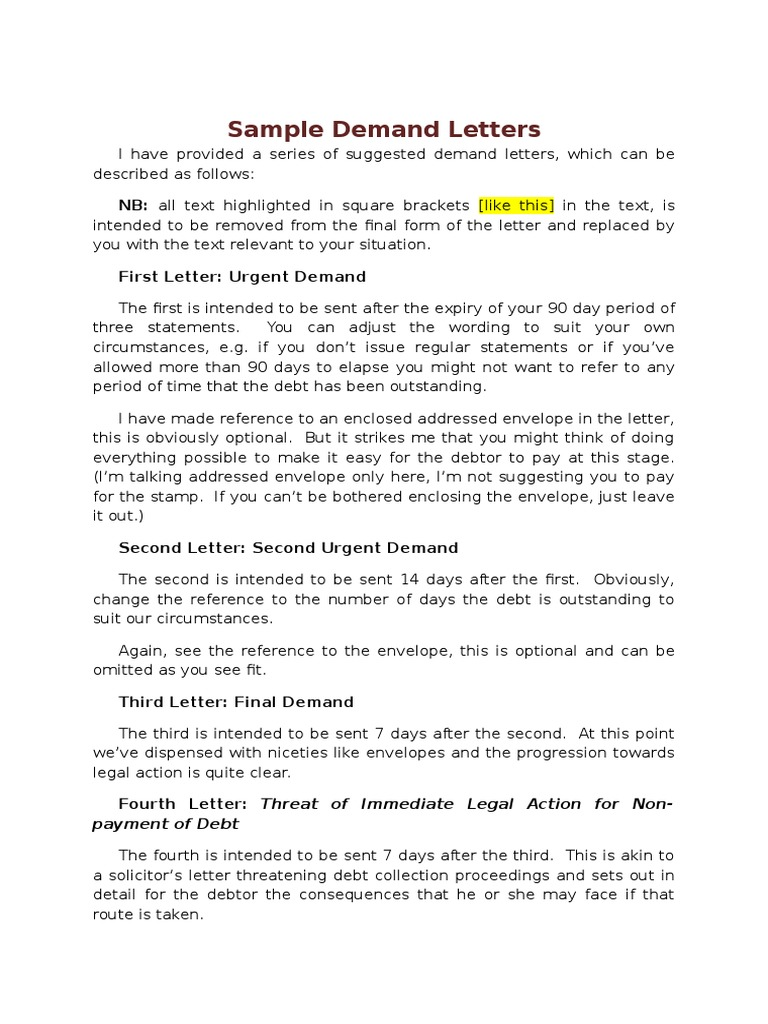 Sample Collections Letter From Attorney from imgv2-2-f.scribdassets.com