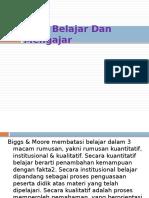 BAB 3 - Teori Belajar Dan Mengajar