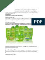 Garner Fructis Shampoo