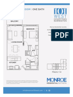 101 West | Floor Plans for 64 Residential Apartment Units in Barrington, IL