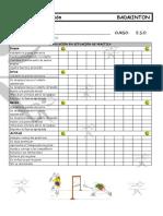 Ficha de Observacion Badminton