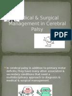 Medical & Surgical Management in Cerebral Palsy