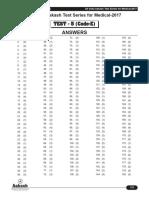 Solutions AIATS Medical-2017 Test-5 (Cde-E & F) (19!02!2017)