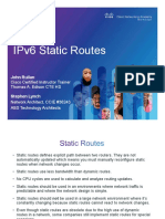 3- IPv6 Static Routes