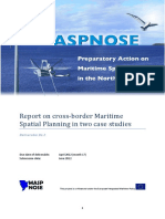 Report on Cross-border Maritime Spatial Planning in Two Case Studies