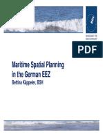 Maritime Spatial Planning in the German EEZ